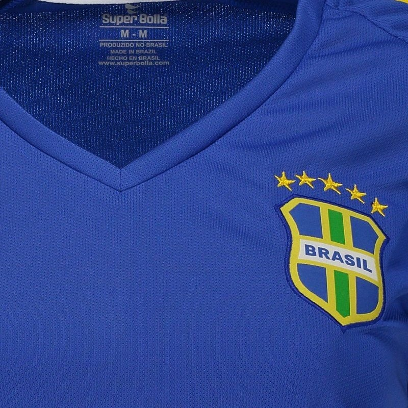 camisa super bolla brasil pro 2018 azul feminina. Carregando zoom. 211051274a9bb