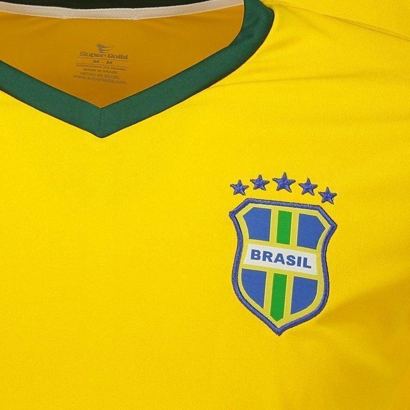 14b5e6c43093d Camisa Super Bolla Brasil Torcedor 2018 - R$ 34,90 em Mercado Livre