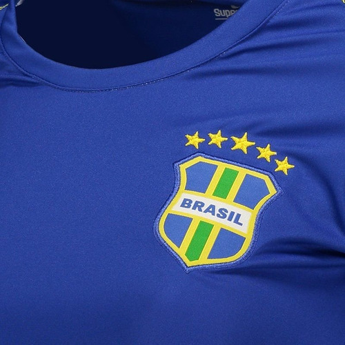 5df6f27bd Camisa Super Bolla Brasil Ultimate 2018 Feminina Azul - R  49