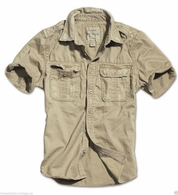 gran descuento venta 50% rebajado último diseño Camisa Surplus Estilo Militar Xl Slim No Zara Boss Polo Ugg