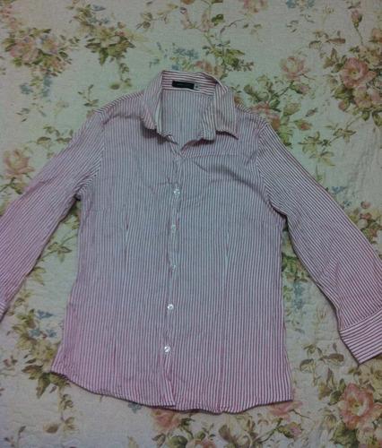 camisa tamanho 40 pequeno manga três quartos