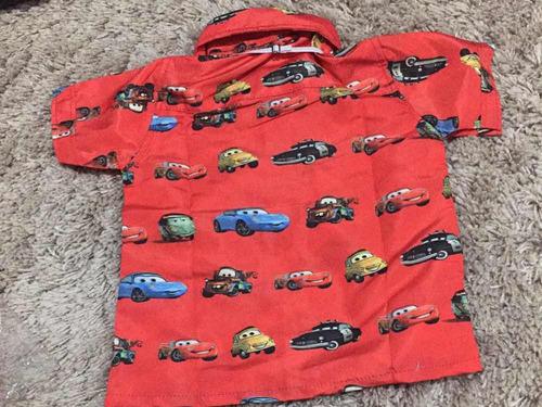 camisa temática carros