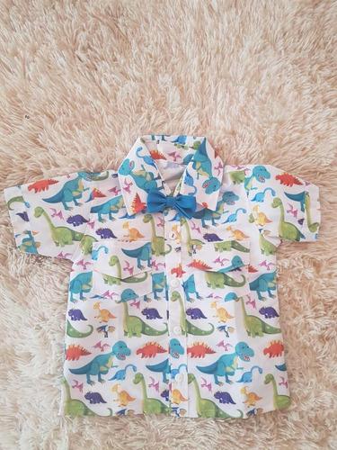 camisa temática dinossauros festa aniversario luxo