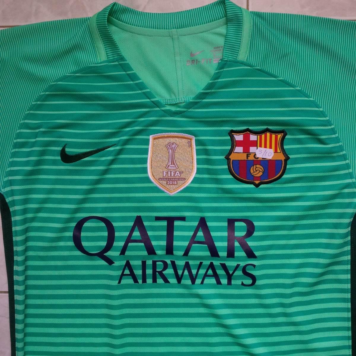 camisa tercera equipacion barcelona 2016 verde champions. Cargando zoom. 65c93f5d84b06