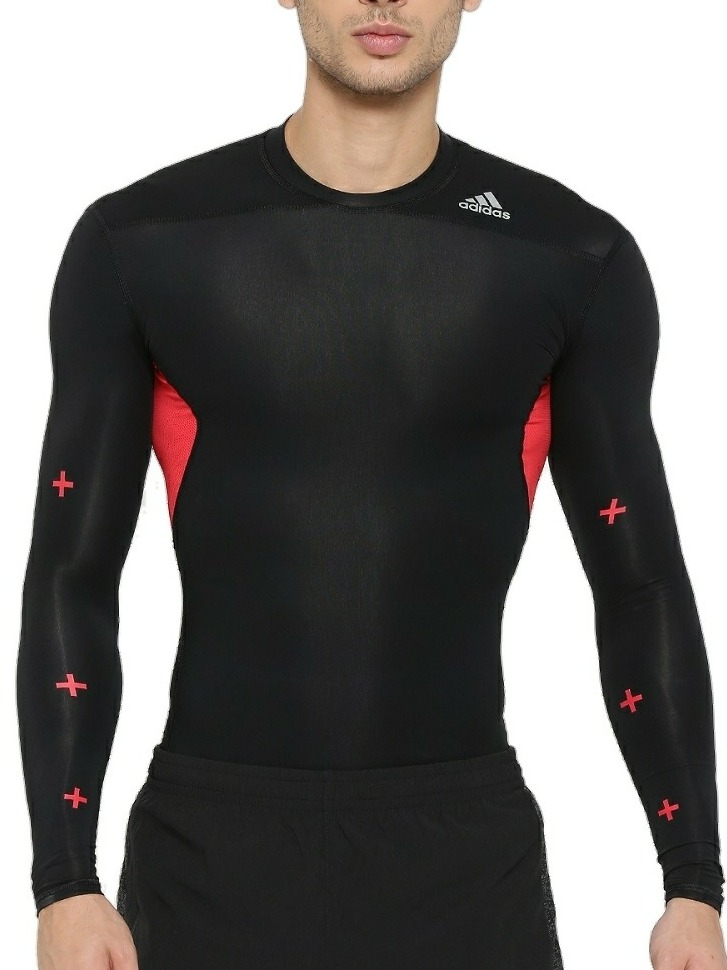 camisa térmica adidas manga longa preta segunda pele m g. Carregando zoom. fffa0a22ba1bd