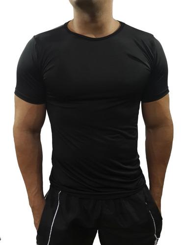camisa térmica básica segunda pele gola redonda manga curta