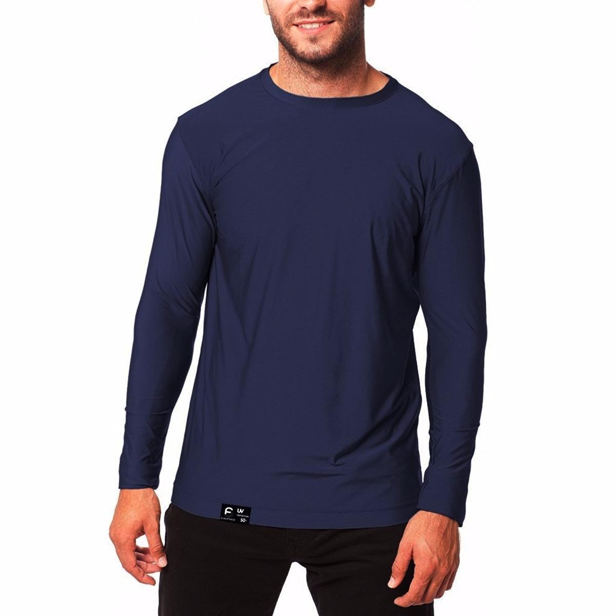 Carregando zoom... camisa térmica com proteção solar uv 50+ plus size ... fc13abfc991dc