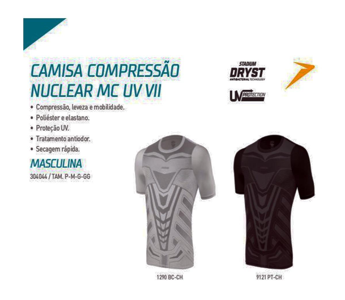 f7dd29f94e camisa térmica compressão manga curta nuclear ml proteção uv. Carregando  zoom.