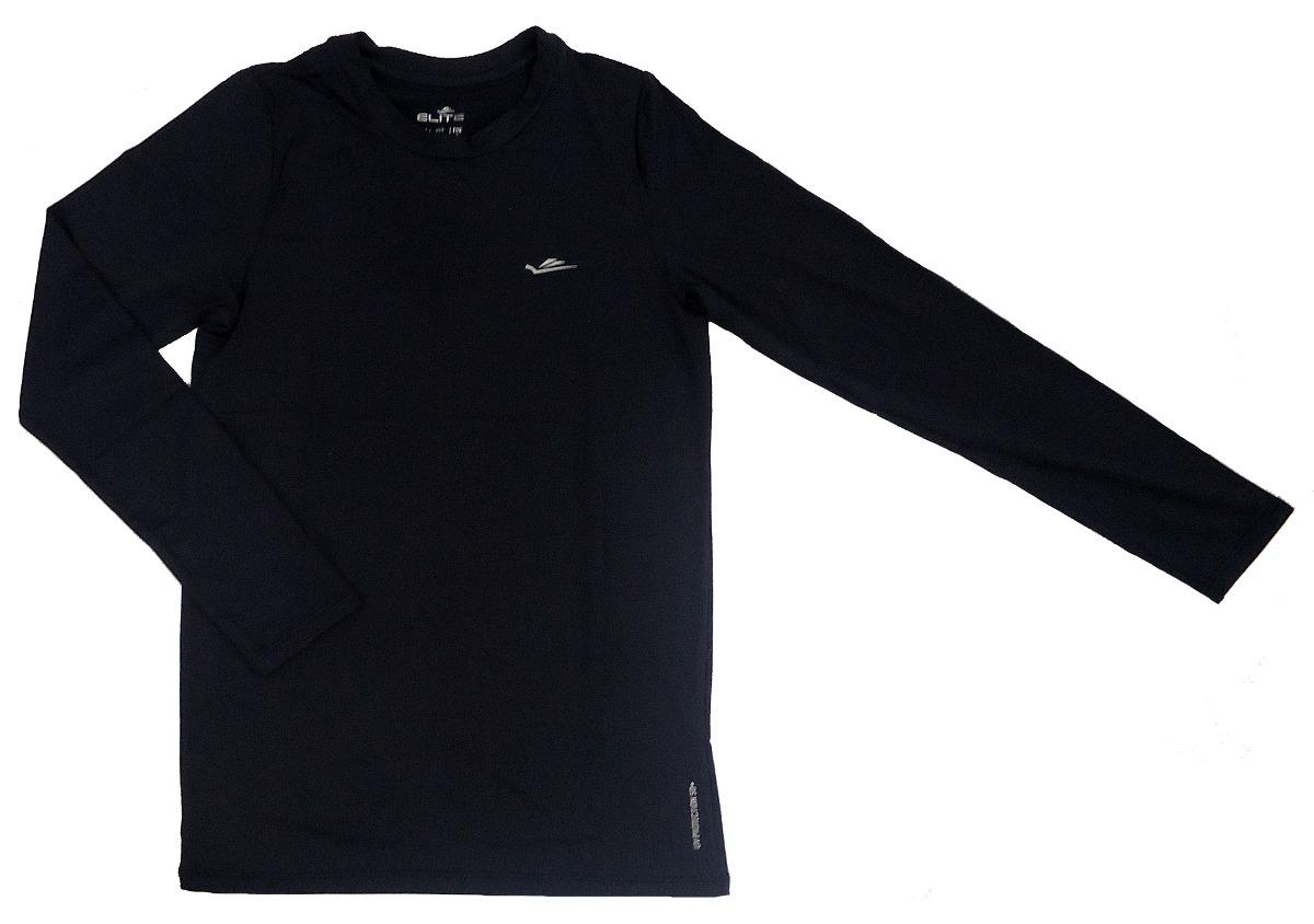 camisa termica de compressão elite adulta manga longa preta. Carregando  zoom. 4402731d6223b