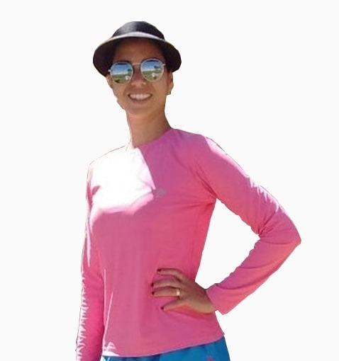 a8c251ee9 Camisa Térmica Feminina Com Proteção Solar Uv 50+ - R  74