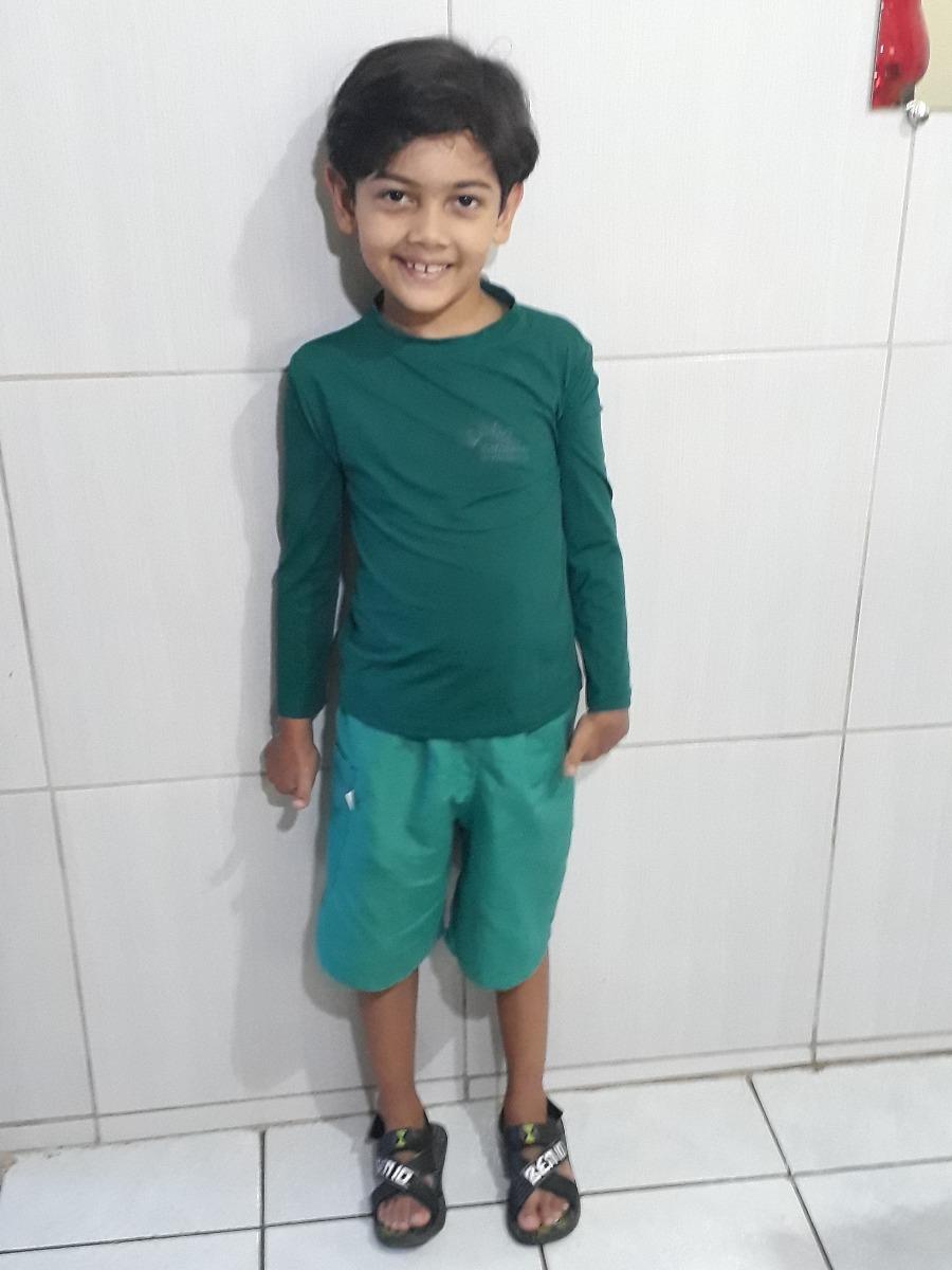 camisa térmica infantil 2ª pele com proteção solar uv 50 +. Carregando zoom. 79ad248668a41