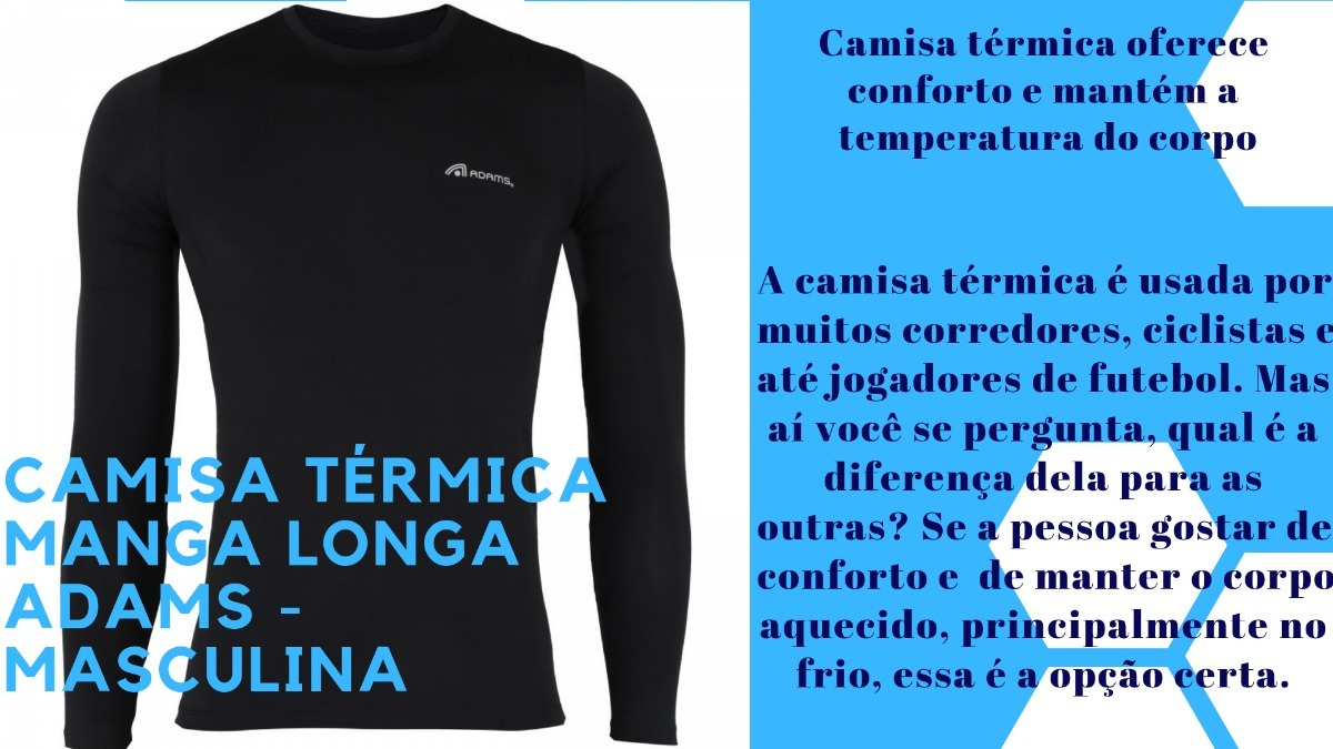 camisa termica manga longa adams-masculina melhor preço. Carregando zoom. 5503c38cb6904