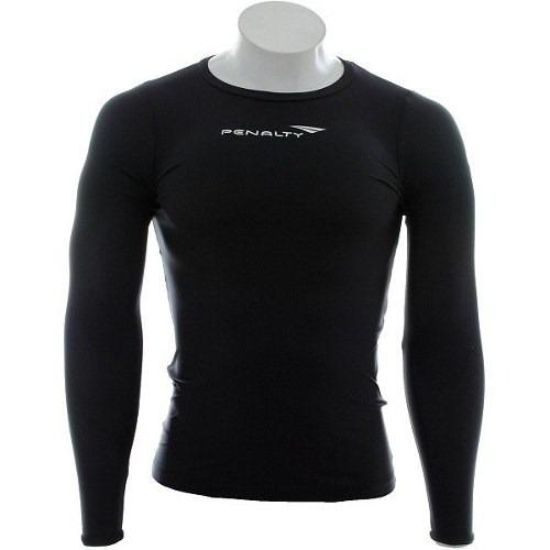 Camisa Térmica Penalty Matis Vi Manga Longa Preto - R  90 2356514b8102a