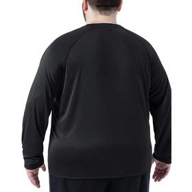 Camisa Térmica Plus Size Proteção Uv 50+ Manga Longa