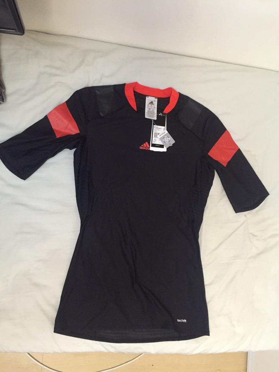 camisa térmica preta e vermelha adidas adipower tam g tags. Carregando zoom. 09350f97745d6