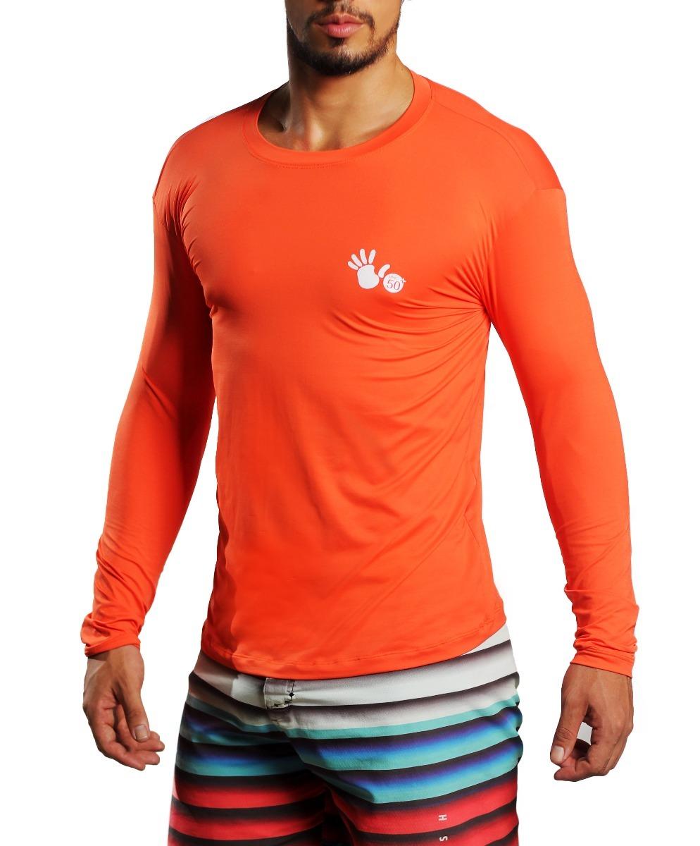 camisa termica proteção solar uv 50+ poliamida. laranja. Carregando zoom. 7843f12e3d47b