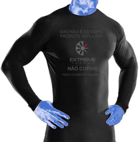 camisa térmica proteção uv segunda pele extreme thermo mista
