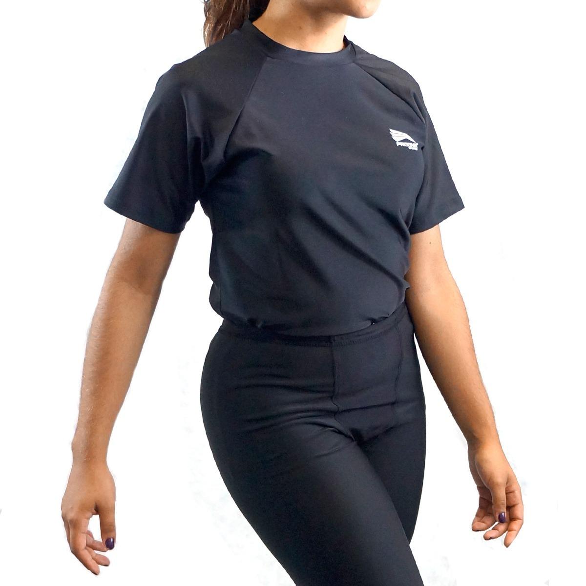 camisa térmica rash guard segunda pele manga curta progne. Carregando zoom. f6686ba6b90f7
