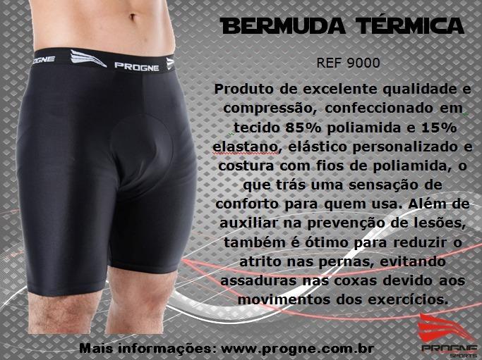 Camisa Térmica Segunda Pele + Bermuda Compressão Sungão Prog - R  92 ... bddc42661d756