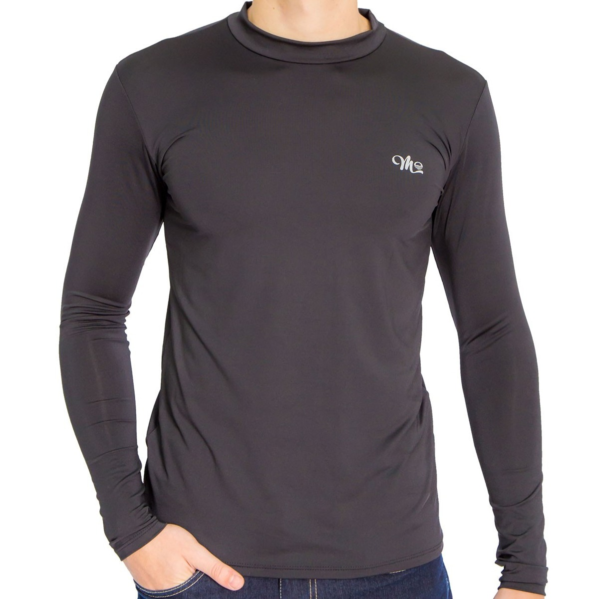 camisa térmica segunda pele masculina manga longa gola alta. Carregando zoom . 7bd0cd8913bb6