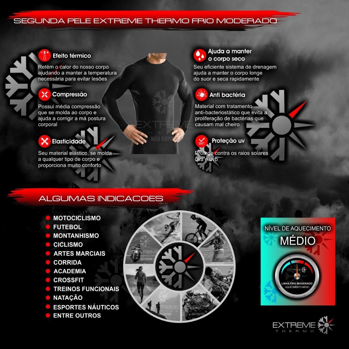 camisa térmica segunda pele proteção uv extreme thermo mista. Carregando  zoom. e9220ca03bb5a