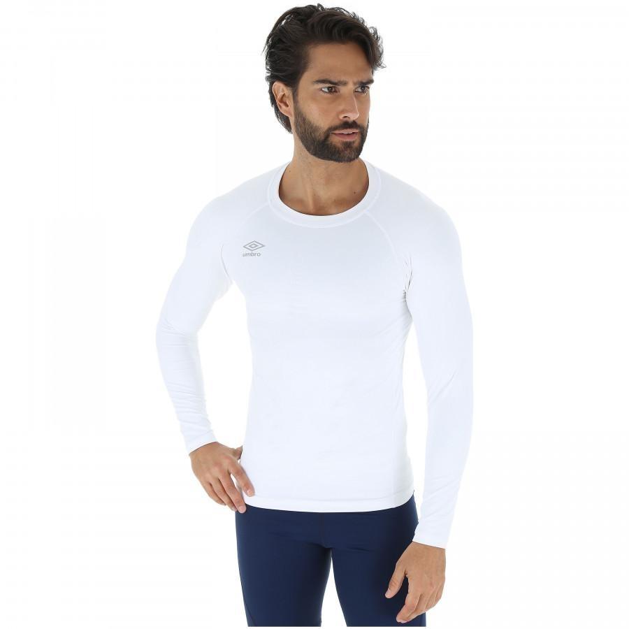 camisa térmica umbro twr graphic - masculina - branco. Carregando zoom. 8e9cfd22884b8