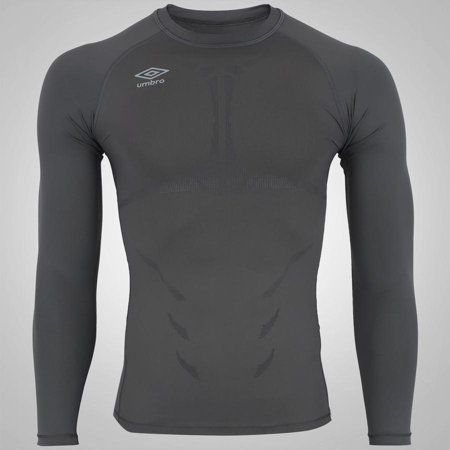 camisa térmica umbro twr graphic - masculina - cinza. Carregando zoom. d3316dafdd52d