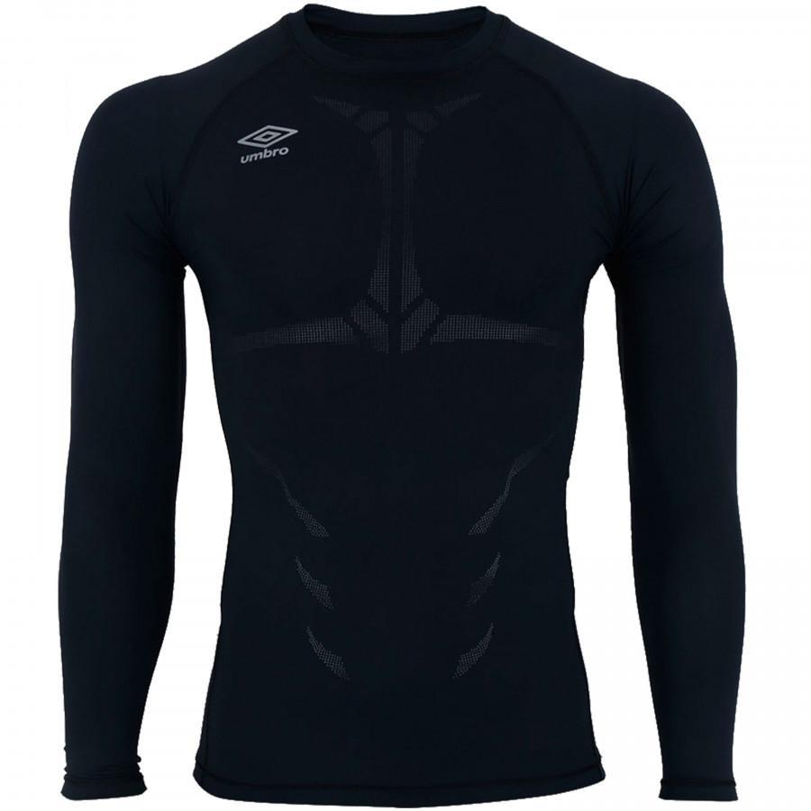 camisa térmica umbro twr graphic - masculina - preto. Carregando zoom. 79fa31878b5be