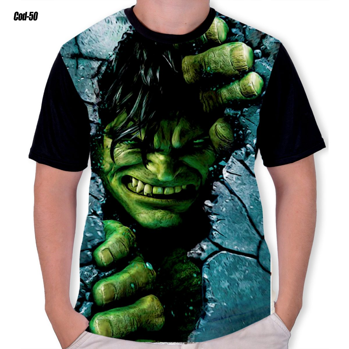 0e5be8f145605 Camisa The Hulk 3d Animes Filmes Hqs