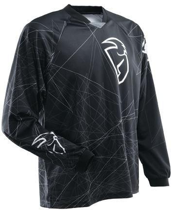 camisa thor static preto motocross enduro trilha