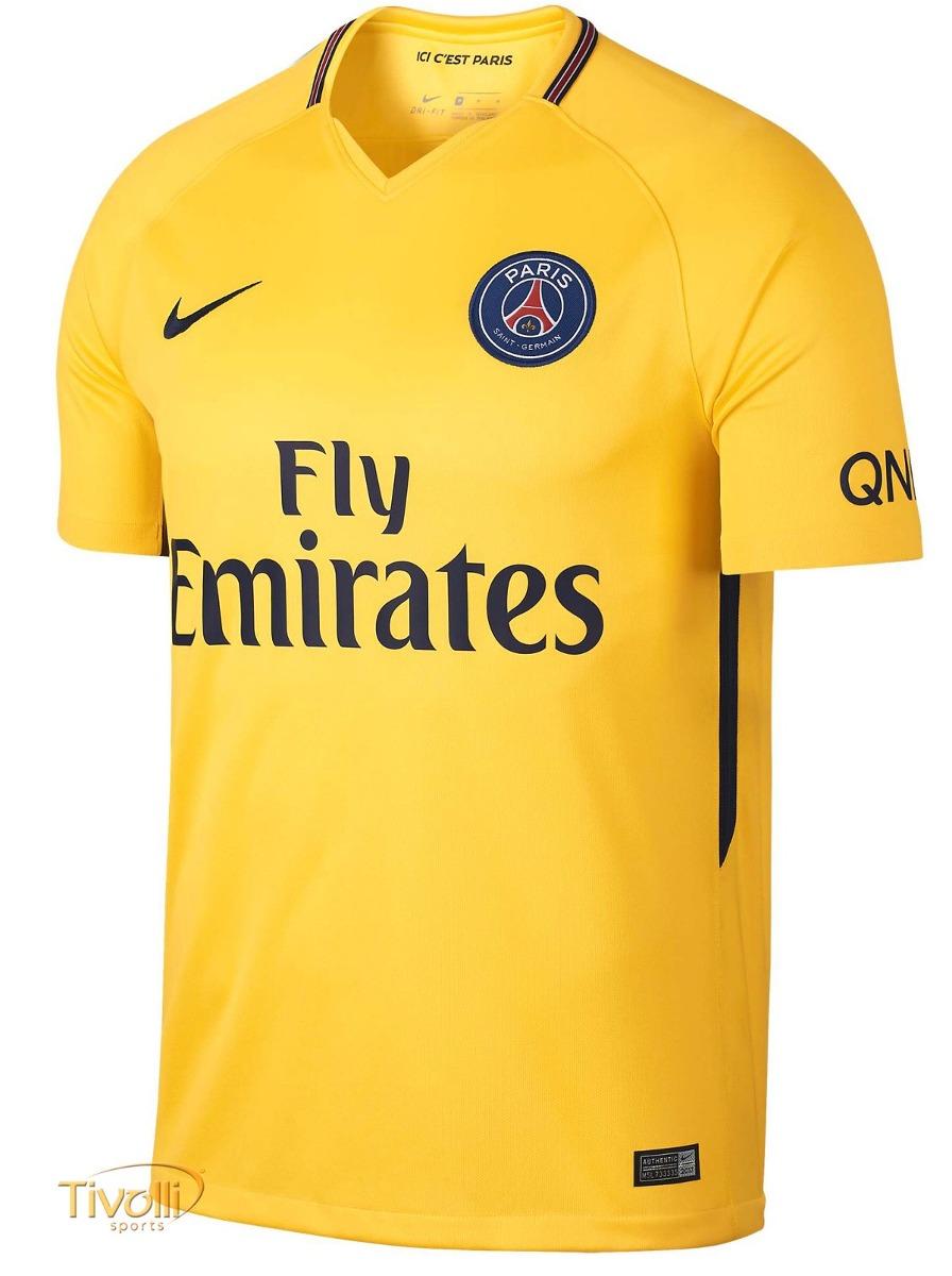camisa time 10 neymar paris amarela oficial 2018. Carregando zoom. 4482798e01af8