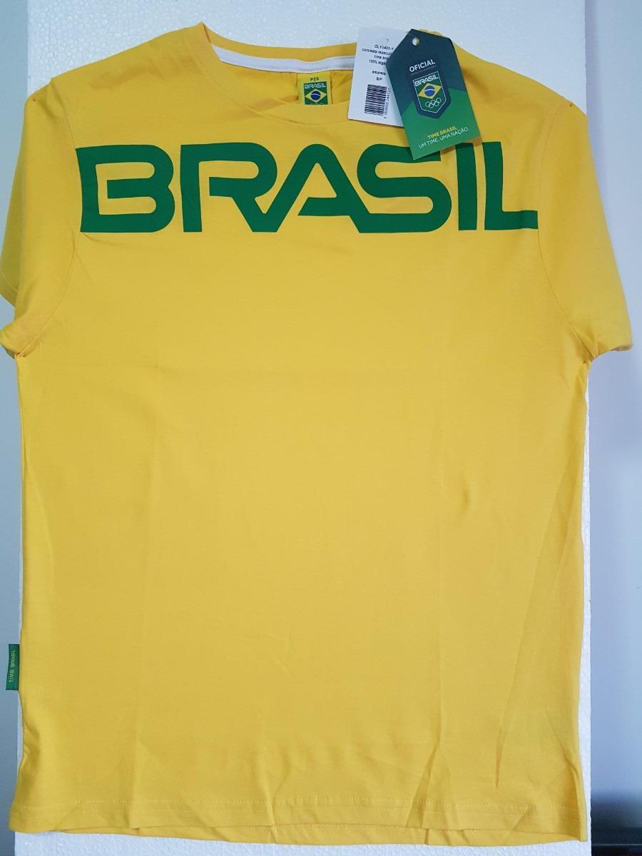 Camisa Time Brasil Olimpiadas Rio 2016 Amarela Unissex - R  51 148164438bde8