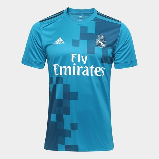 cccc1f8b20 Camisa Time De Futebol Real Madrid 2017 2018 Adulto - R  140
