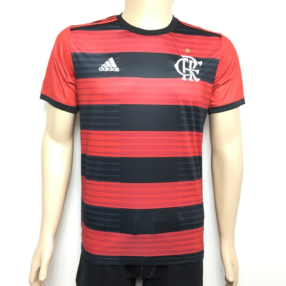 Camisa Time Flamengo adidas 2018 Original Titular - S nº - R  97 8c79decf21778