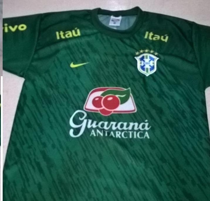 72d22a86b259a Camisa Time Seleção Brasileira Brasil Verde Treino Nova 2 - R  52