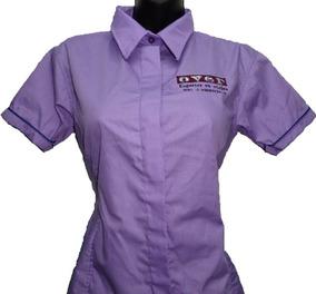 b54c71252 Camisa Tipo Columb Dama Manga Corta Larga Bordado Uniforme