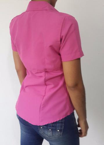 camisa tipo columbia ejecutiva dama manga corta microfibra