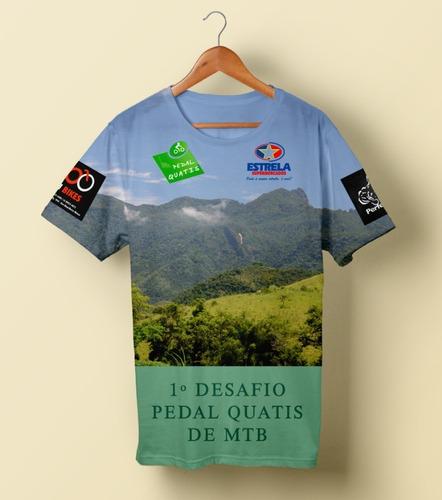 camisa tipo comum pedal quatis 1º desafio mtb