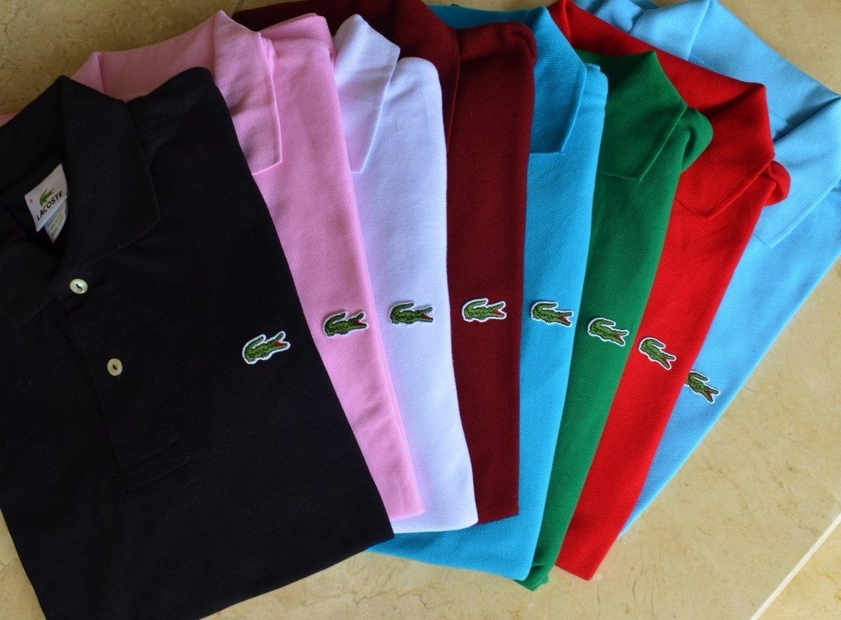 d71b4cb67 camisa tipo polo lacoste todos los colores pack 4 unidades. Cargando zoom.