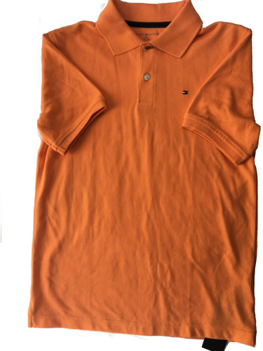 camisa tipo polo  lisa  marca tommy hilfiger