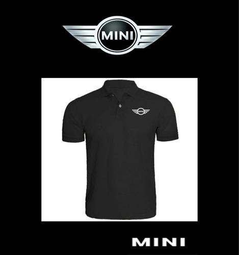 camisa tipo polo logo mini cooper bordada