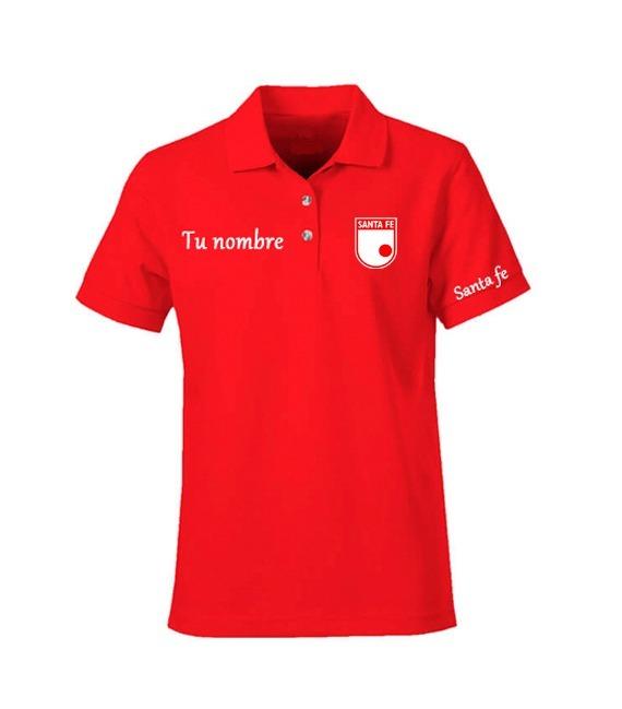 Camisa Tipo Polo Personalizada Equipos De Fútbol Colombianos ... 06589da80fee3