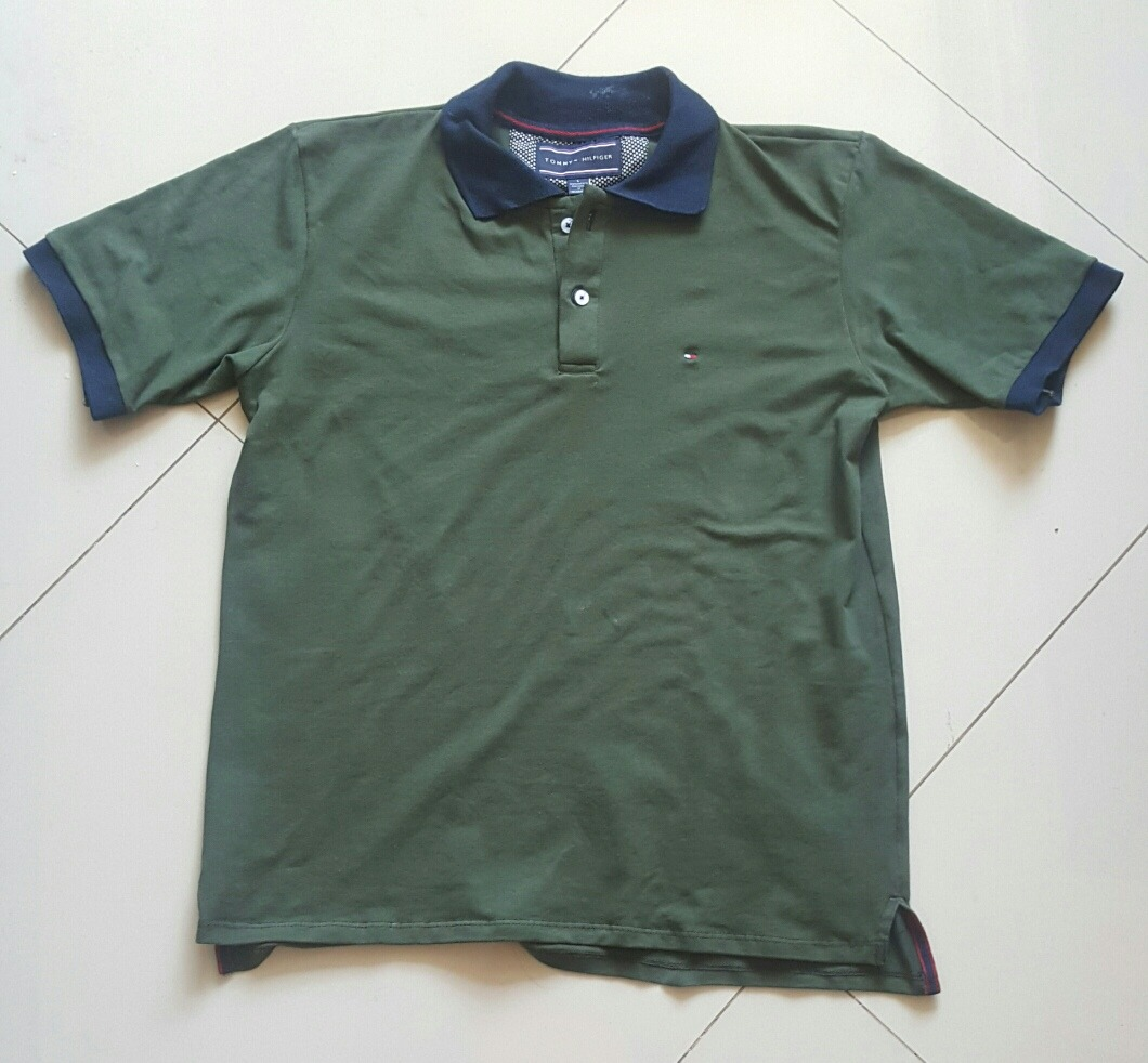 8a610f76cbc camisa tipo polo tommy hilfiger hombre verde militar talla l. Cargando zoom.