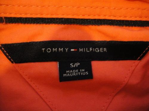 camisa tommy hifilger naranja  mujer small ( 1021 )
