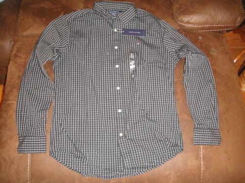 camisa tommy hifilger negra lineas blancas medium (1 25 )