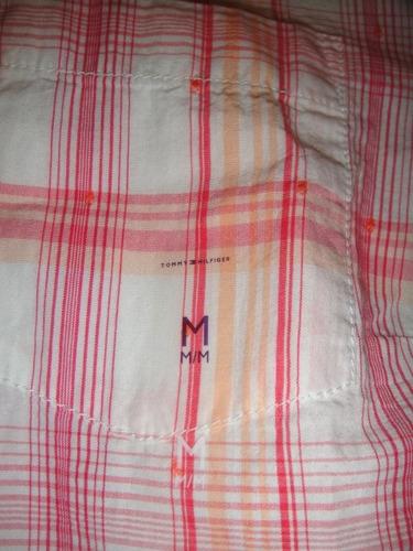 camisa tommy hifilger rayas  mujer medium ( 1022 )