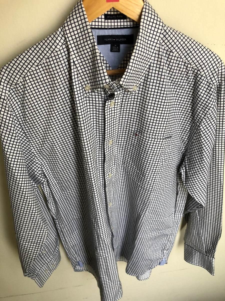 Camisa Tommy Hilfiger 80 s 2 Ply Fabric Original 2018talla M - S ... 6cdfd364d06