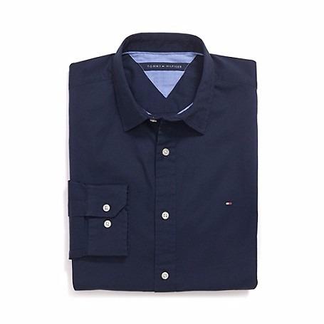 camisa tommy hilfiger (hombre) manga larga