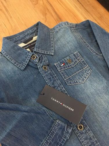 camisa tommy hilfiger infantil 24m jeans ultima unidade!!!