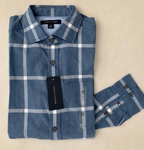 camisa tommy hilfiger masculina manga longa p entrega fr gts